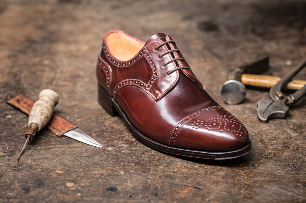 Half Brogue Derby Cordovan